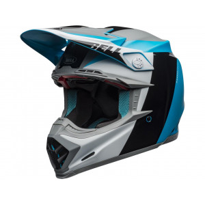 Casque BELL Moto-9 Flex Division White/Black/Blue 2020