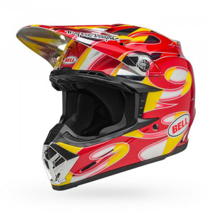 Casque BELL Moto-9 Mips McGrath Replica Gloss Red/Yellow/Chrome 2020