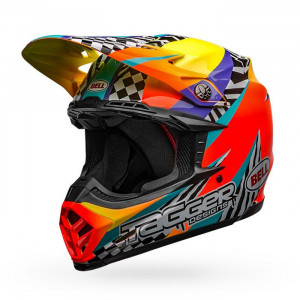 Casque BELL Moto-9 Mips Prophecy Matte White/Black/Blue 2020