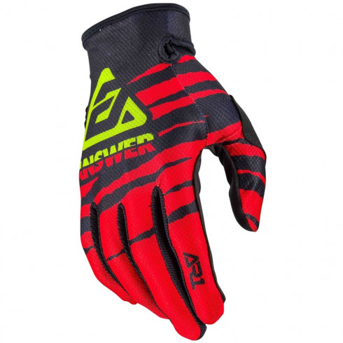 Gants ANSWER AR1 Pro Glow Red/Black/Hyper Acid 2020