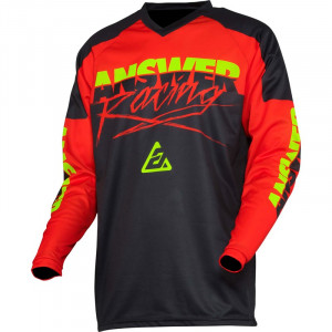 Maillot ANSWER Syncron Pro Glow Red/Black/Hyper Acid 2020